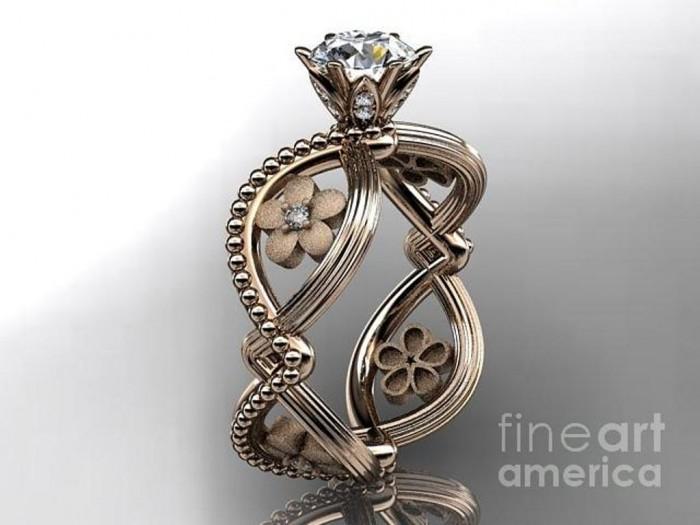 rose-gold-diamond-floral-wedding-ring-engagement-ring-adlr192-anjaysdesigns-com Top 70 Dazzling & Breathtaking Rose Gold Engagement Rings