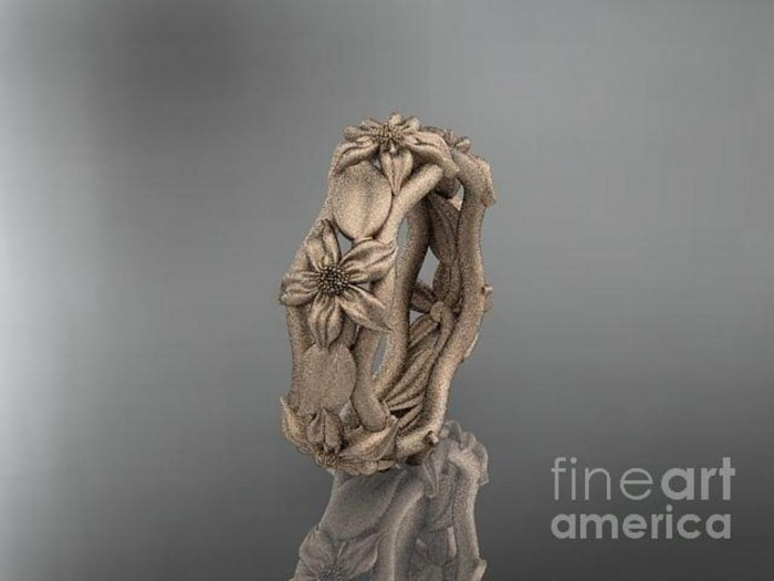 rose-gold-diamond-leaf-and-vine-floral-wedding-ring-engagement-ring-wedding-band-adlr105-anjaysdesigns-com Top 60 Stunning & Marvelous Rose Gold Wedding Bands