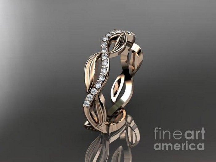 rose-gold-diamond-leaf-and-vine-wedding-ring-engagement-ring-wedding-band-adlr100b-anjaysdesigns-com Top 60 Stunning & Marvelous Rose Gold Wedding Bands