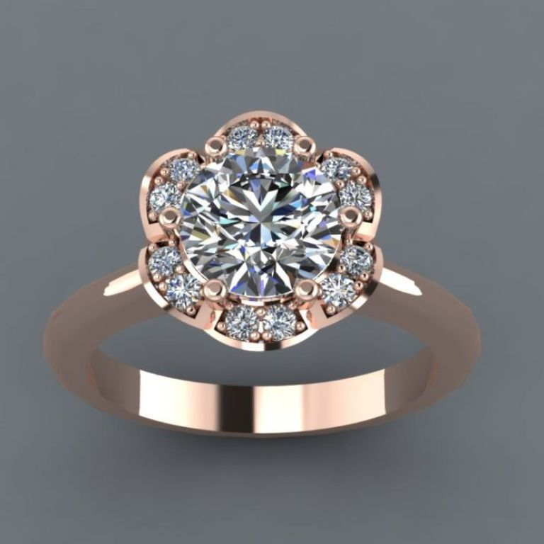 rose-gold-engagement-ring-with-moissanite-stones__full Top 70 Dazzling & Breathtaking Rose Gold Engagement Rings
