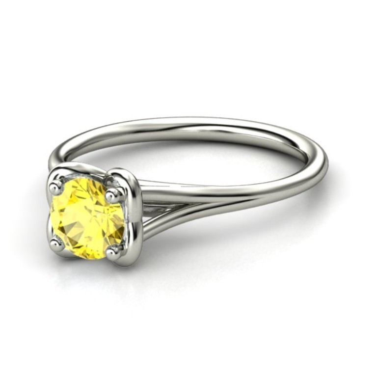 round-yellow-sapphire-palladium-ring 35 Fabulous Antique Palladium Engagement Rings