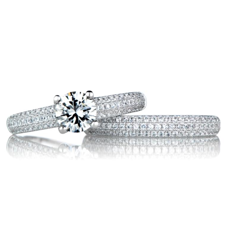 salma-s-cubic-zirconia-wedding-ring-set-round-cut-17 35 Dazzling & Catchy Bridal Wedding Ring Sets