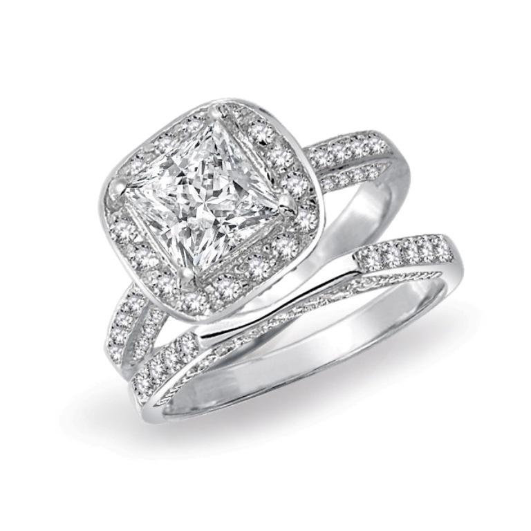silver-ring-engagement-set-square-bridal-cz0_yc-ycr182set 35 Dazzling & Catchy Bridal Wedding Ring Sets