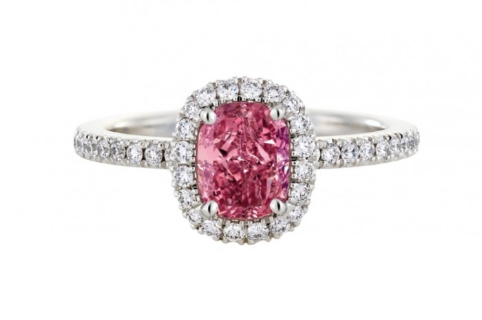 sparkly-engagement-rings-pink-diamond-aura-w724 60 Magnificent & Breathtaking Colored Stone Engagement Rings