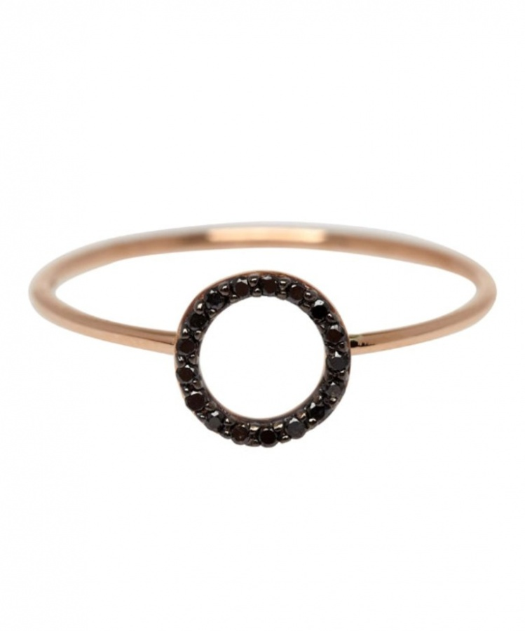 ss14kism167100567-rose 50 Non-Traditional Black Diamond Rose Gold Engagement Rings