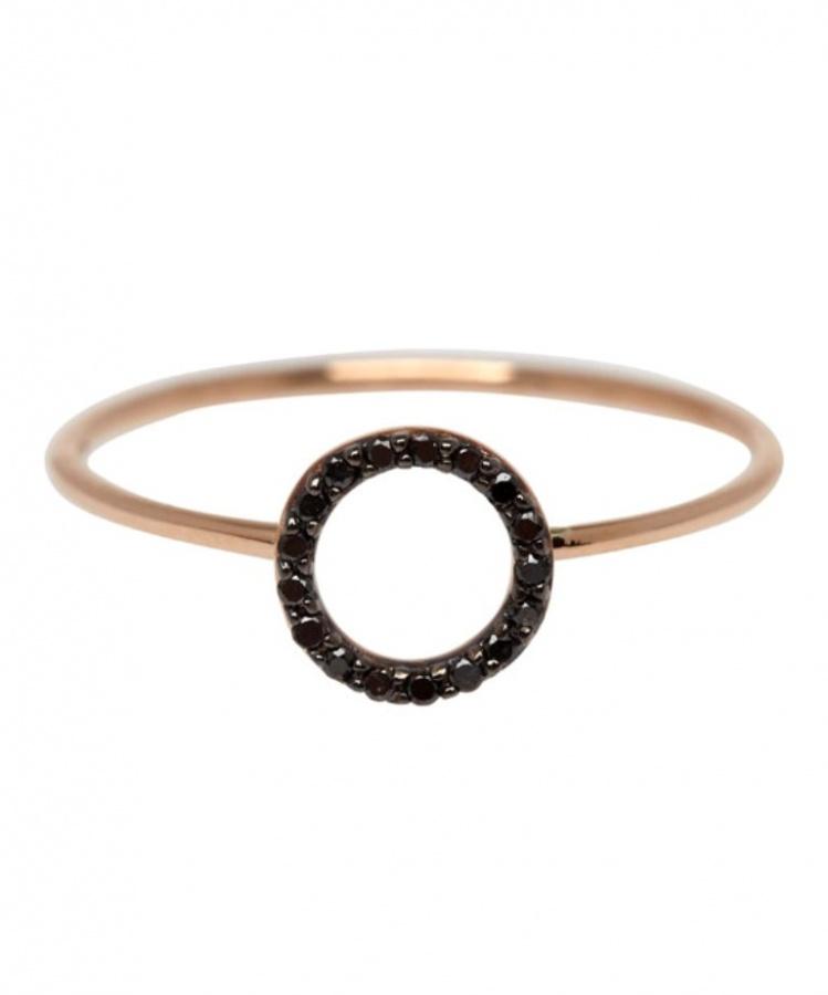 ss14kism167100567-rose 50 Non-Traditional Black Diamond Rose Gold Engagement Rings