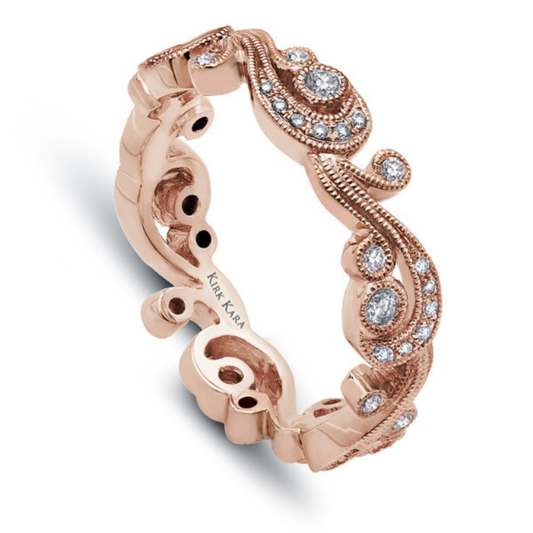 ss6967ap_bs_rose_gold_kirk_kara_grande Top 60 Stunning & Marvelous Rose Gold Wedding Bands