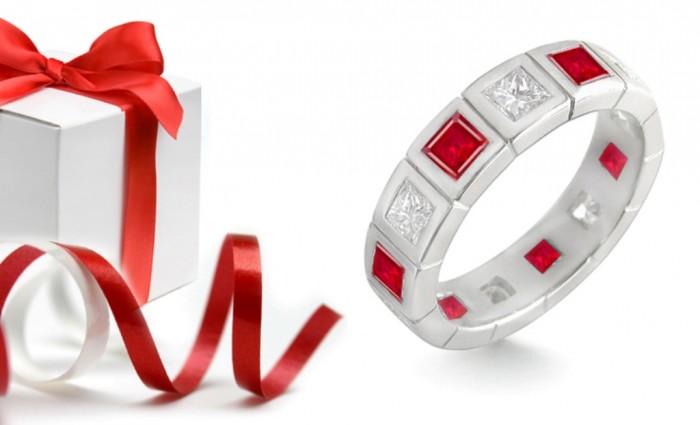 stackable-heirloom-family-everlasting-forever-gemstone-ruby-diamond-eternity-rings4 55 Fascinating & Marvelous Ruby Eternity Rings