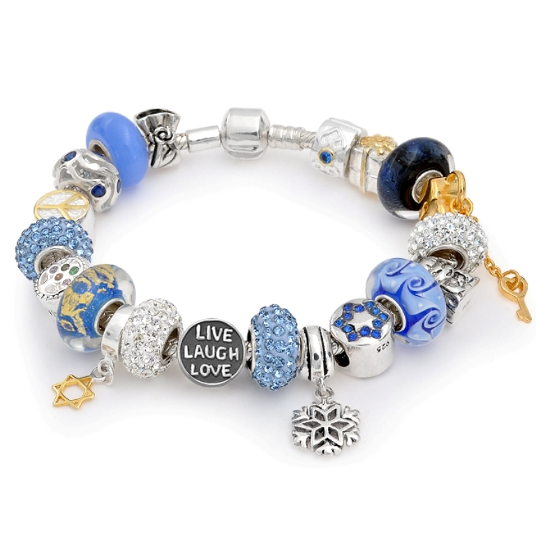 sterling-silver-pandora-bead-compatiblebracelet-hanukkah-lll 65 Fabulous & Stunning Handmade Beaded Gemstone Jewelries