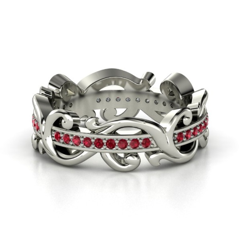 sterling-silver-ring-with-ruby 55 Fascinating & Marvelous Ruby Eternity Rings