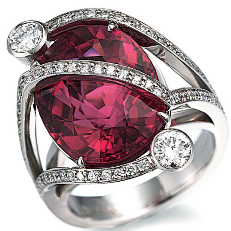 tamsen-z-rubelite-ring 60 Magnificent & Breathtaking Colored Stone Engagement Rings