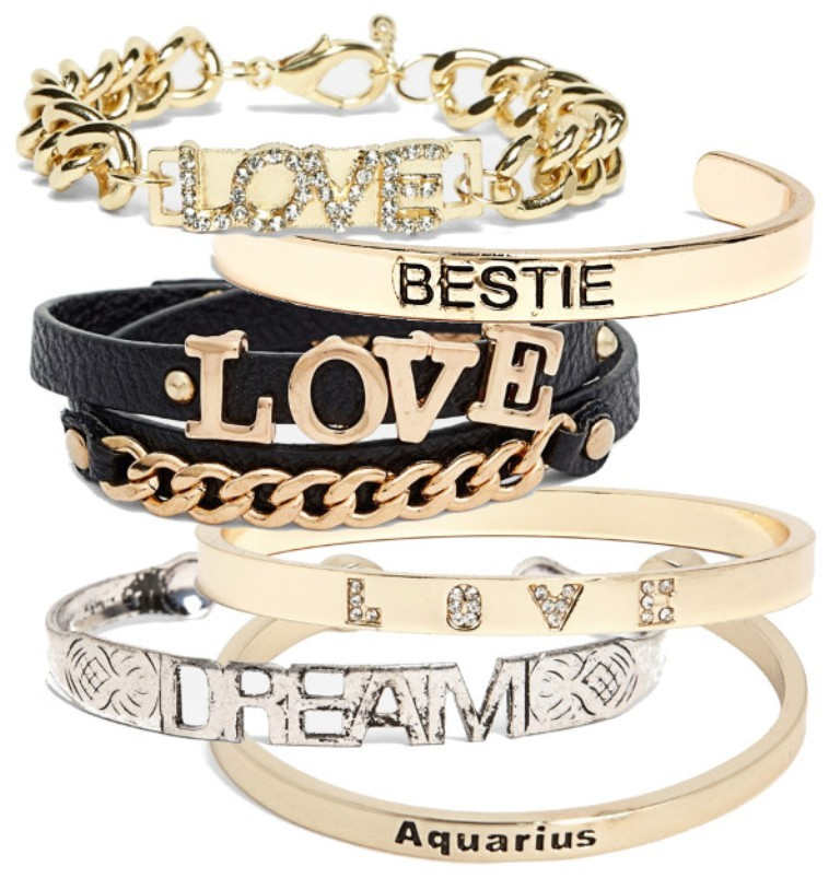 text-bracelets-bangles Show Your Endless Love to Your Lover with These Unique Cuffs & Bracelets of Love