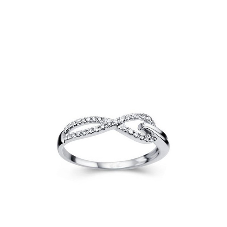 twin-knots-journey-diamond-wedding-band-on-18ct-white-gold 60 Breathtaking & Marvelous Diamond Wedding bands for Him & Her