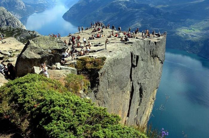 ulpit-Rock-or-Preikestolen-Prekestolen Top 10 Best Quality of Life Countries