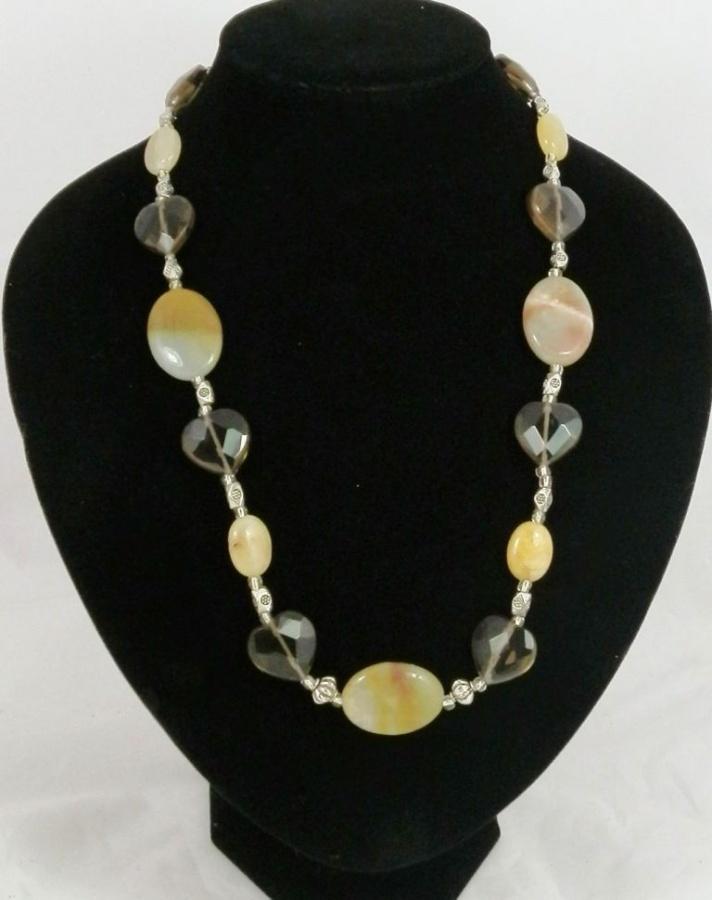 unique-design-smokey-quartz-agate-and-jade-handmade-gemstone-necklace-1694-p 65 Fabulous & Stunning Handmade Beaded Gemstone Jewelries