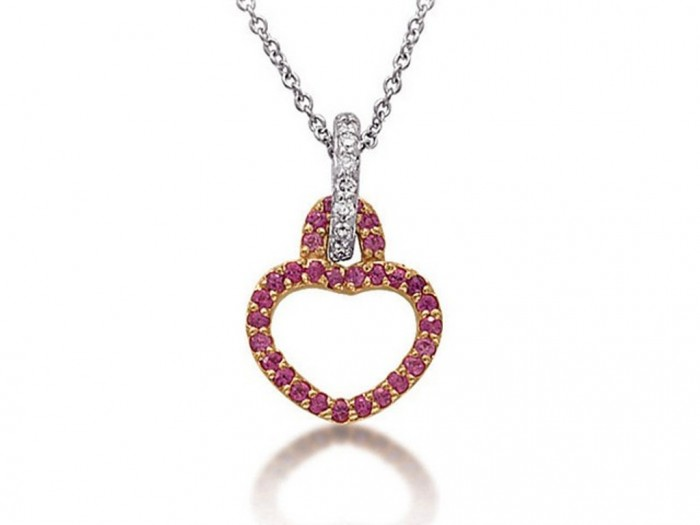 unusual-diamond-gemstone-ruby-white-gold-pendant-mons 30 Non-traditional & Unusual Gold Necklaces
