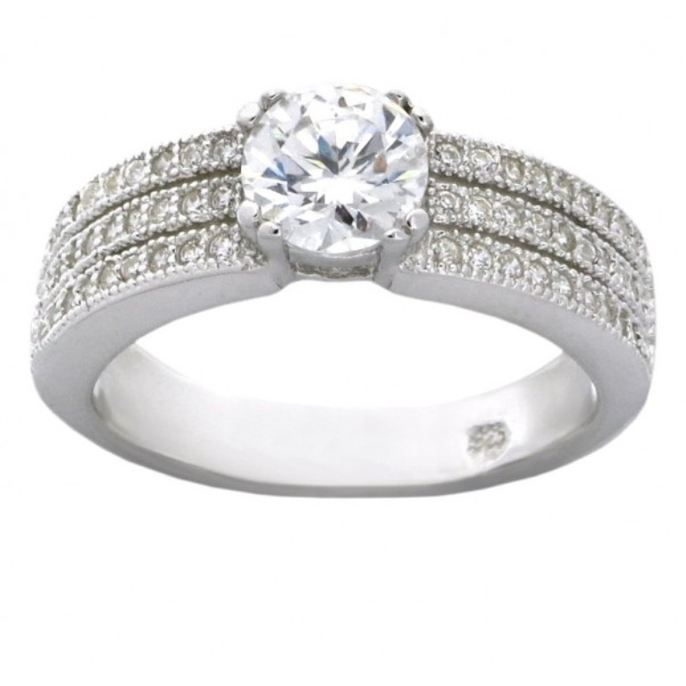 vintage-classic-2-carat-cubic-zirconia-engagement-ring-in-18k-gold-over-sterling-silver 50 Unique Vintage Classic Diamond Engagement Rings