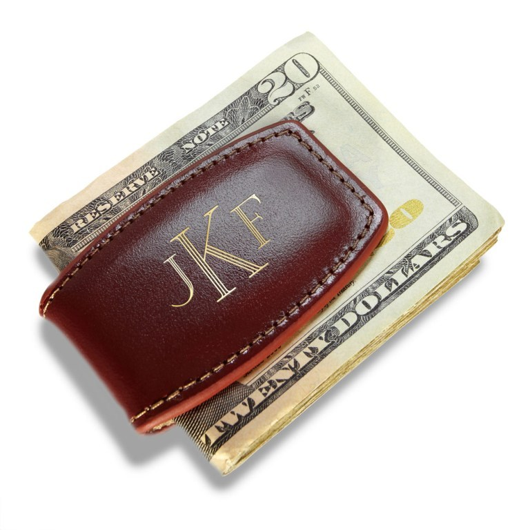 w-moneyclip-leather-brn185917 Best 35 Money Clips for Men