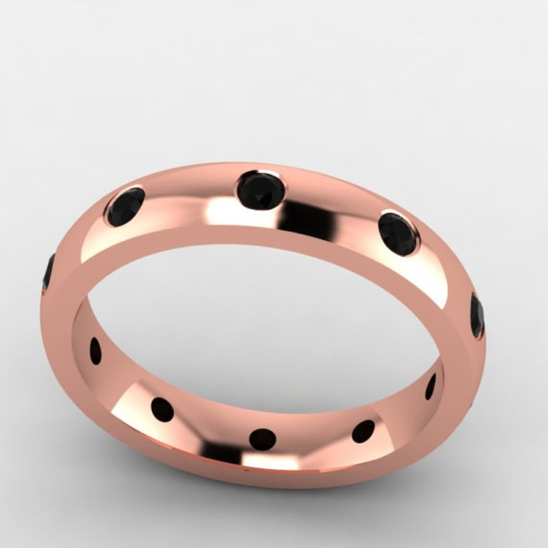 wedding-ring-engagement-gold-diamond10 50 Non-Traditional Black Diamond Rose Gold Engagement Rings