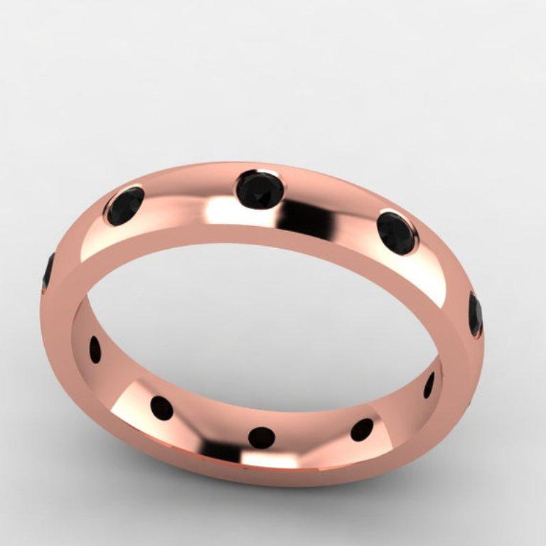 wedding-ring-engagement-gold-diamond10 50 Non-Traditional Black Diamond Rose Gold Engagement Rings