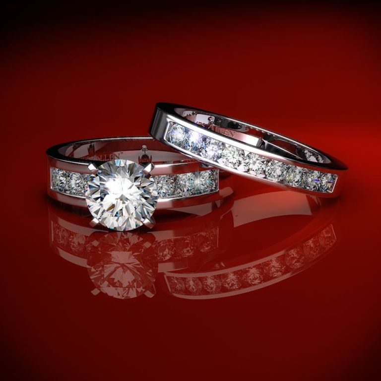 wedding-rings-set 35 Dazzling & Catchy Bridal Wedding Ring Sets