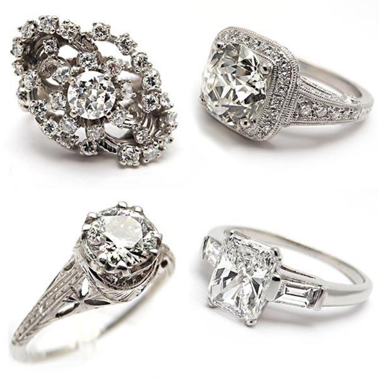 weston-jewelry-engagement-rings 50 Unique Vintage Classic Diamond Engagement Rings