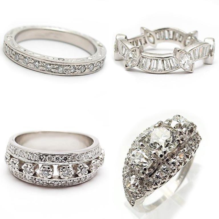 weston-jewelry-wedding-bands 50 Unique Vintage Classic Diamond Engagement Rings