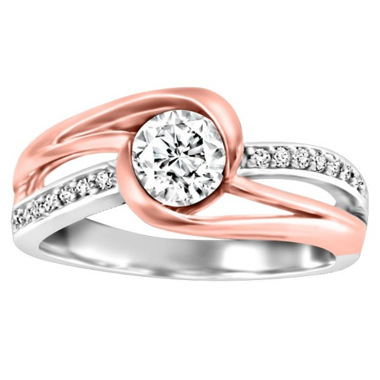 white-and-rose-gold-diamond-engagement-ring-rin-eng-2239 Top 70 Dazzling & Breathtaking Rose Gold Engagement Rings