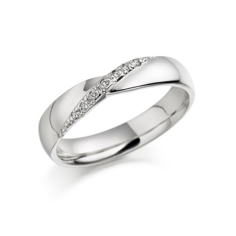 white-gold-diamond-wedding-band 60 Breathtaking & Marvelous Diamond Wedding bands for Him & Her