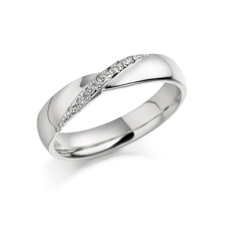 white-gold-diamond-wedding-band 60 Breathtaking & Marvelous Diamond Wedding bands for Him & Her