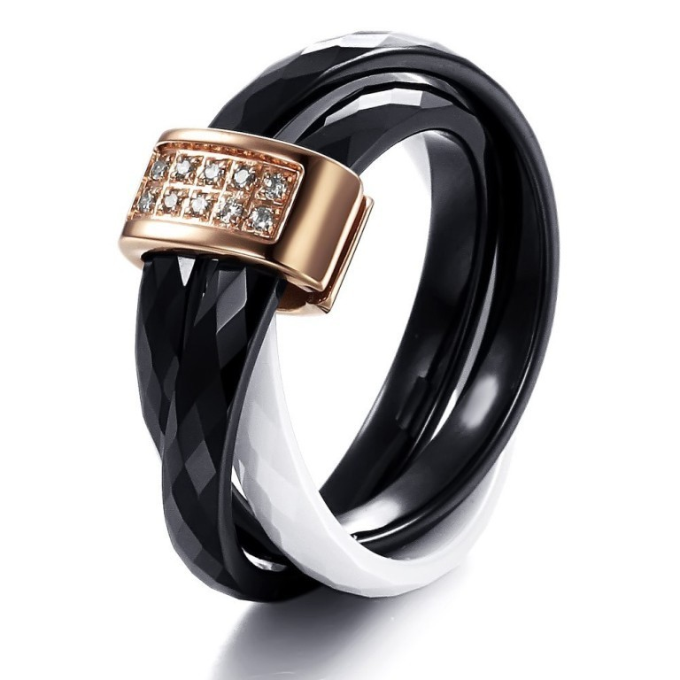 wj224-1 60 Unbelievable Ceramic Wedding Bands for Him & Her