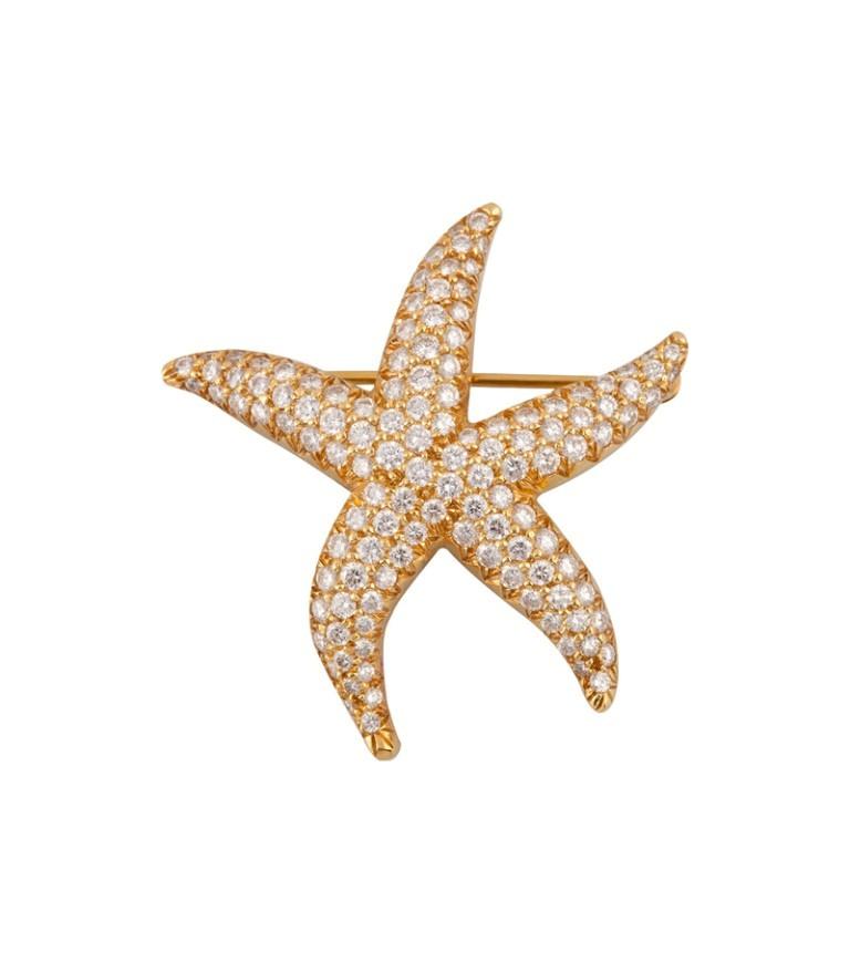 zTiffany-starfish-brooch 35 Elegant & Wonderful Antique Diamond Brooches