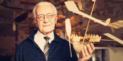 Photo of Prina,The 83 Years Old Architect With His Imaginative Flying Boats