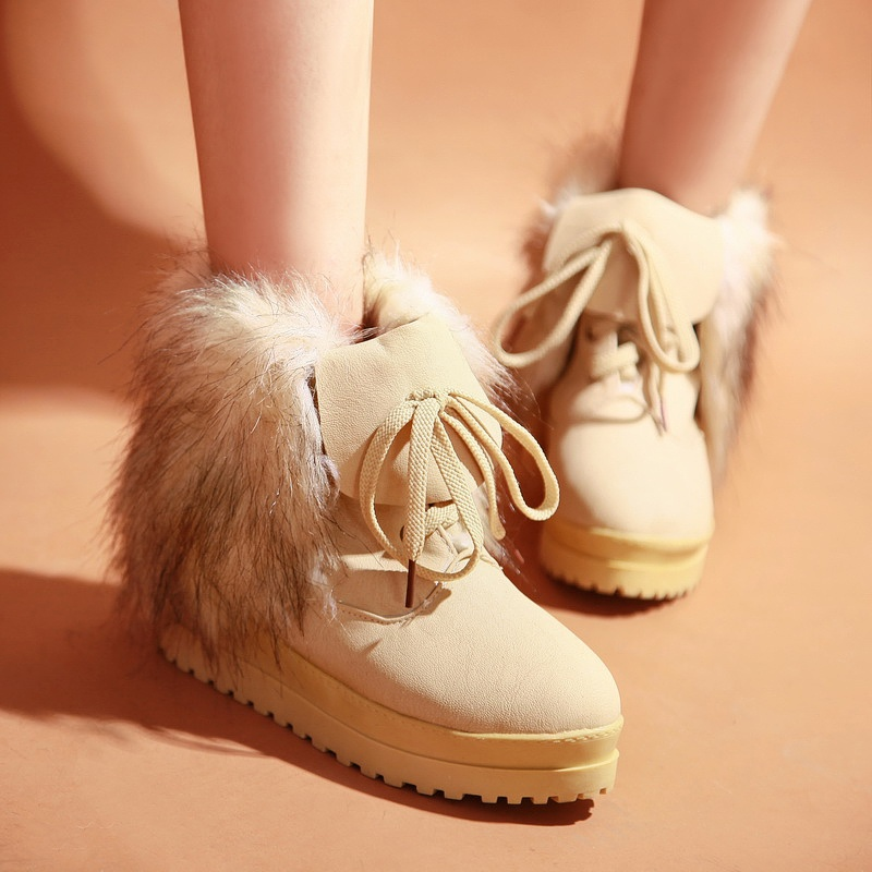 2012-fashion-winter-boots-fox-fur-platform-lacing-flat-ankle-boots-free-shipping Top 79 Stylish Winter Accessories in 2018