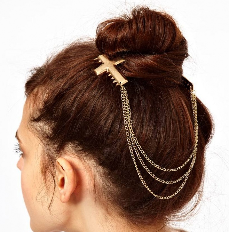 2013-Punk-Hair-Accessories-font-b-Gold-b-font-Plated-Cross-Charm-Chain-font-b-Headbands Hair Jewelry: Learn What to Wear in Your Hair