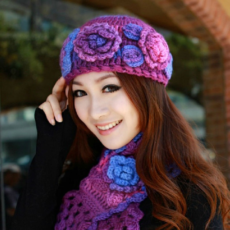 2013_New_Wool_Winter_Beanie_Hat_and_Scarf_Set_Wholesale Top 79 Stylish Winter Accessories in 2021