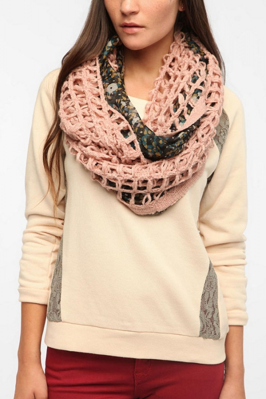 5_pins-and-needles-floral-crochet-eternity-scarf-1 Top 79 Stylish Winter Accessories in 2021