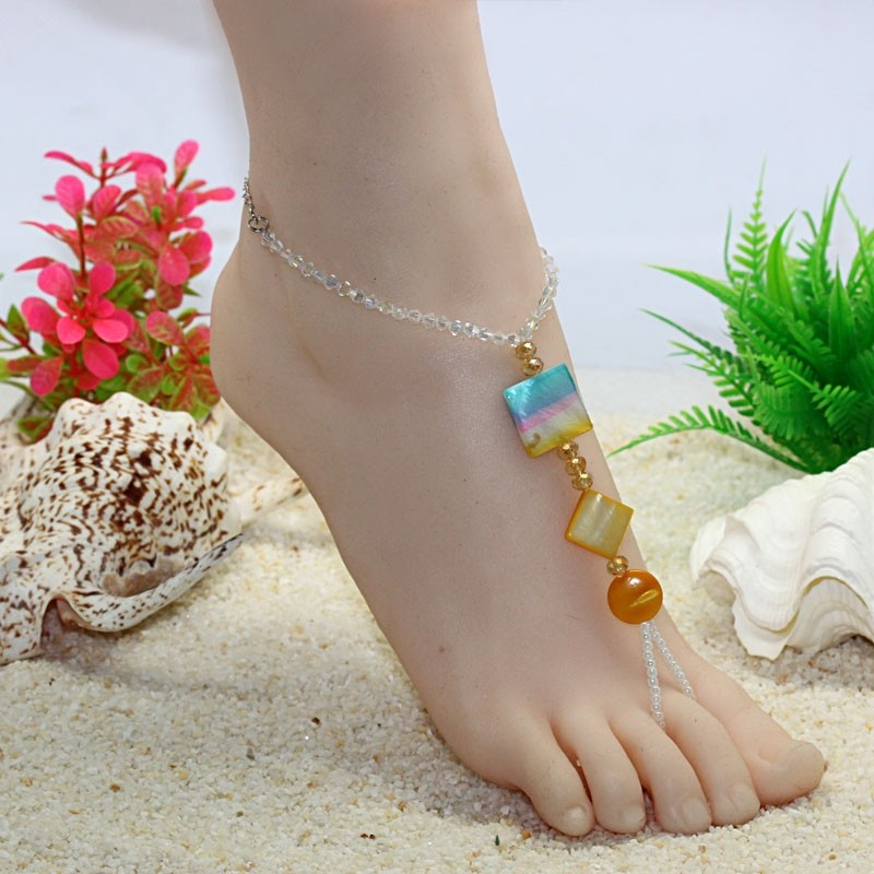 5pair-FG-209-Hot-Fashion-beach-anklet-chain-sexy-shell-anklet-beaded-foot-font-b-jewelry Top 89 Barefoot Jewelry Pieces in 2020