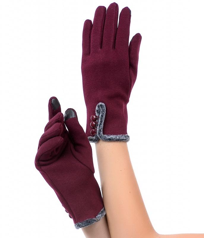 Burgundy-Faux-Fur-Gloves-36261alt Top 79 Stylish Winter Accessories in 2018
