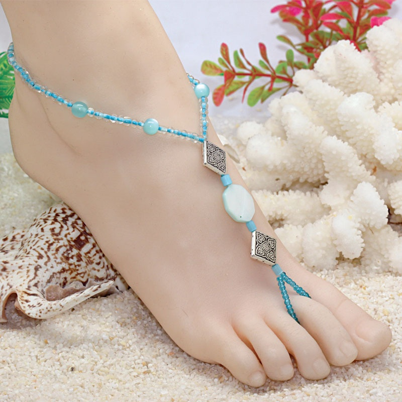 EMS-shipping-Beach-foot-jewelry-foot-jewelry-barefoot-sandals-wedding-foot-jewelry-G307 Top 89 Barefoot Jewelry Pieces in 2020