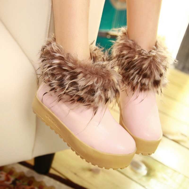 Fashion-Girl-Ankle-Fur-Boots-For-2012-Winter-Thick-Soles-3922 Top 79 Stylish Winter Accessories in 2021