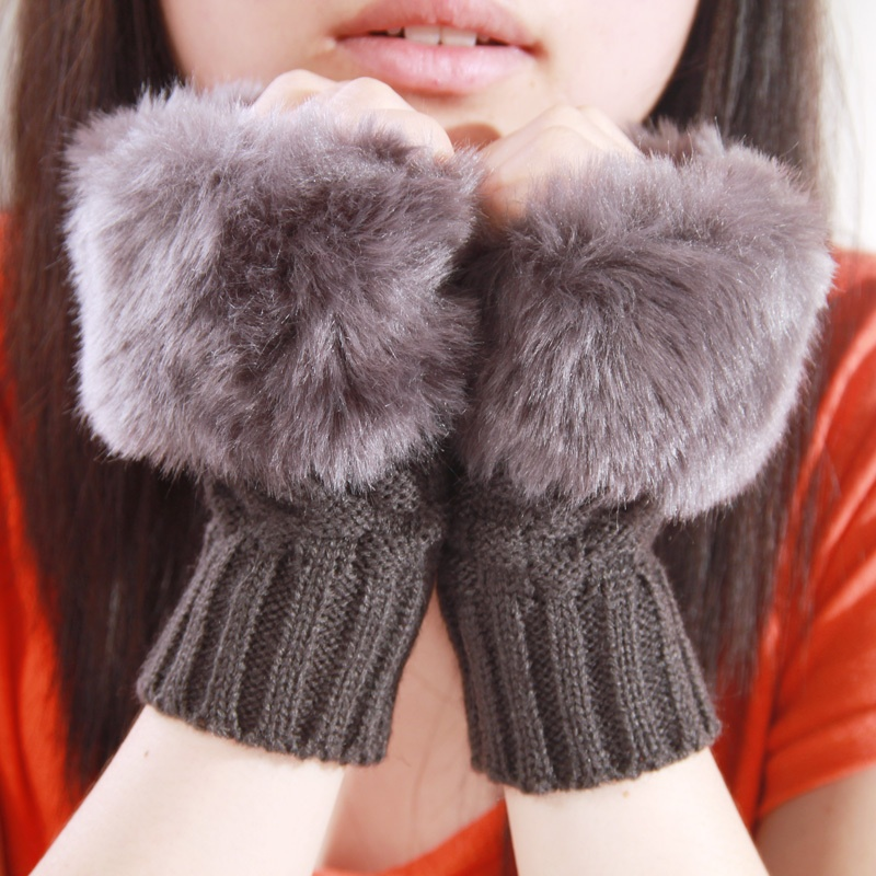Free-Shipping-2012-winter-knitted-yarn-gloves-semi-finger-gloves-rabbit-fur-gloves-thermal-V2417 Top 79 Stylish Winter Accessories in 2018
