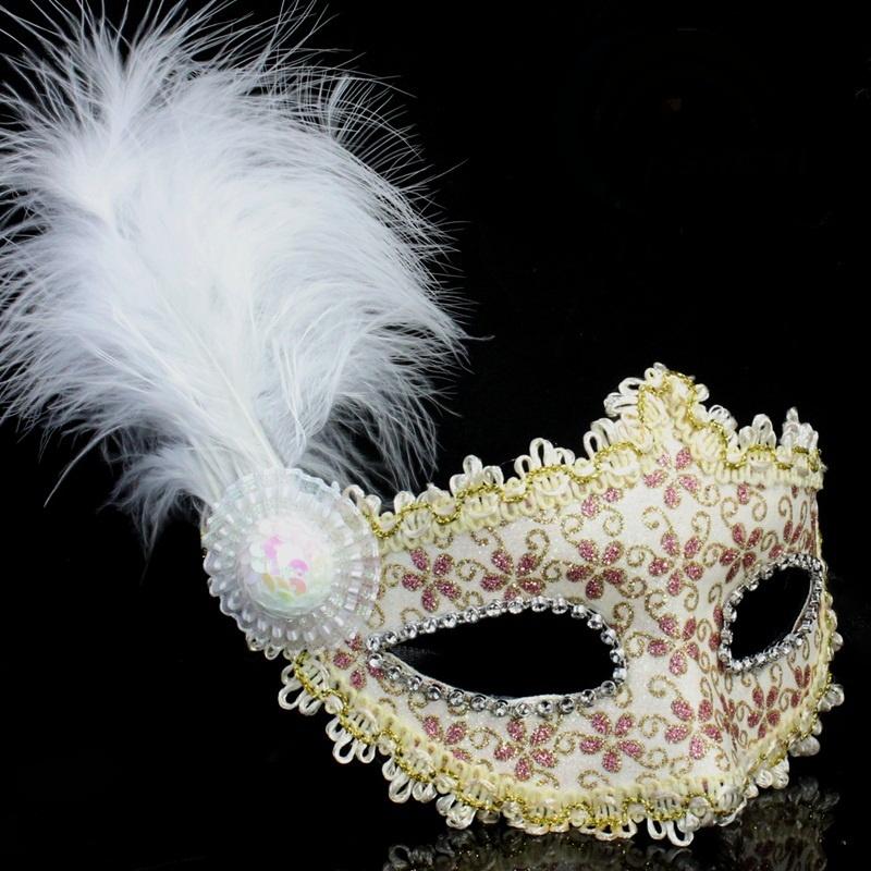 Free-Shipping-Powder-leather-feather-font-b-mask-b-font-trophonema-font-b-mask-b-font 89+ Stylish Masquerade Masks in 2017