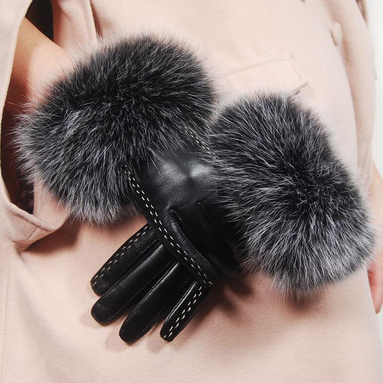 Free-shipping-2012-winter-women-s-suede-genuine-leather-gloves-women-winter-fox-fur-gloves-mittens Top 79 Stylish Winter Accessories in 2018