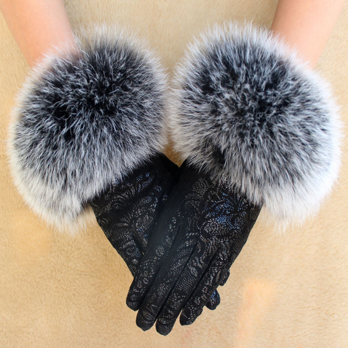 Genuine-font-b-leather-b-font-font-b-gloves-b-font-female-winter-cashmere-printing-font Top 79 Stylish Winter Accessories in 2018