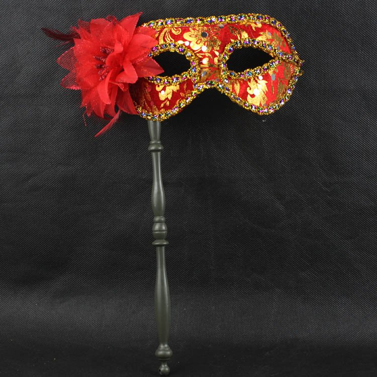 Halloween-party-supplies-performing-mask-cloth-flowers-hand-held-masks-6-color-optional-Free-Custom 89+ Stylish Masquerade Masks in 2017