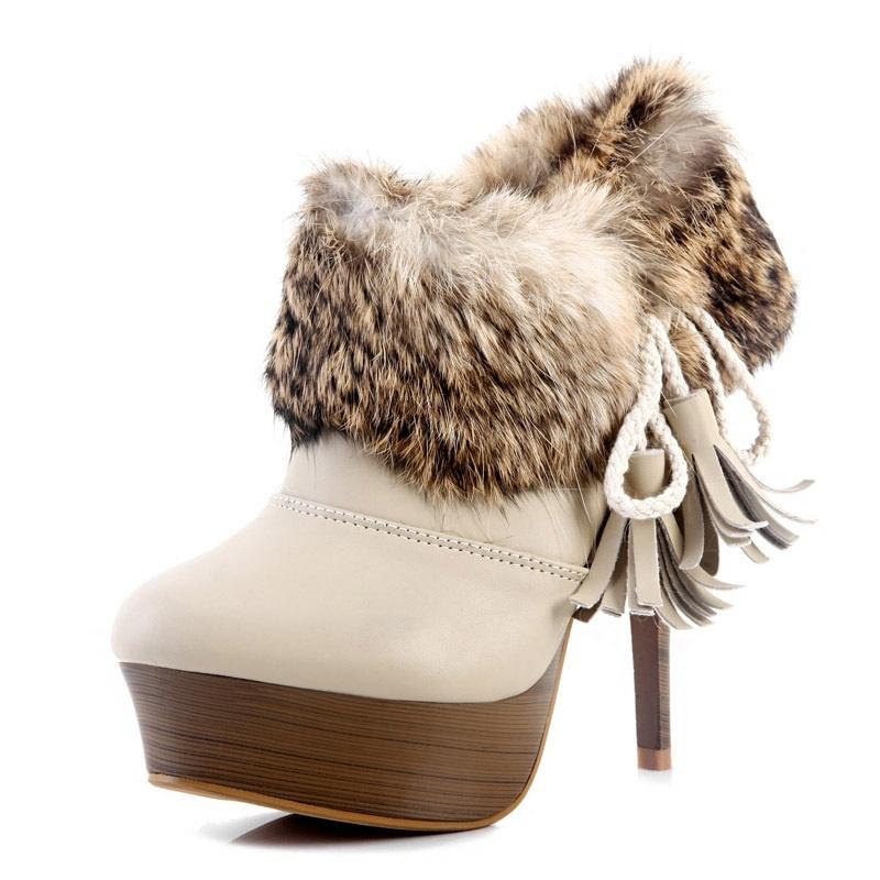 Kvoll-fashion-rabbit-fur-tassel-winter-boots-platform-warm-high-heels-boots-free-shipping-woman-s Top 79 Stylish Winter Accessories in 2018