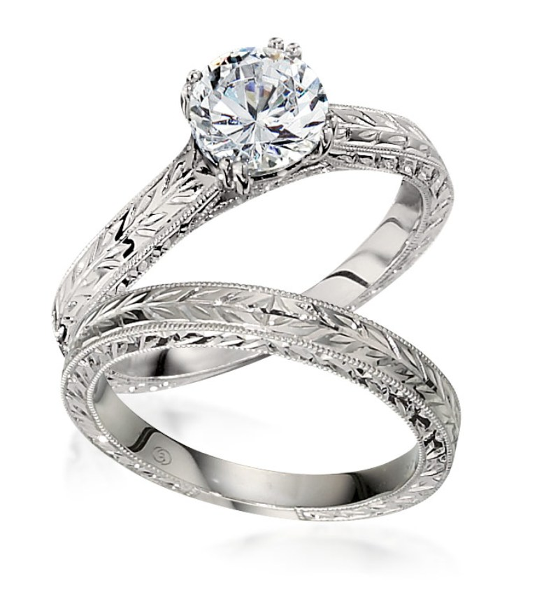 Palladium-Engagement-Rings-2 35 Fabulous Antique Palladium Engagement Rings