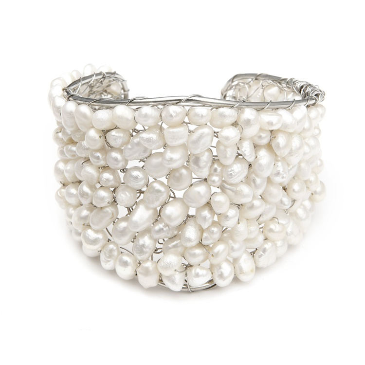 Penelope-Pearl-Cuff-Bridal-Bracelet 49 Famous Forearm Jewelry Pieces