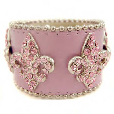 PinkLeatherCuff 49 Famous Forearm Jewelry Pieces